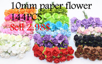 Free Shipping 144PCS Artificial Double Pink Paper Flowers Fo...
