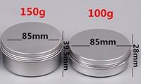 10 15 30 60 100 150 250ml空のアルミニウム化粧品容器鍋リップバームjar錫のクリーム軟膏ハンドクリーム包装コンテナーボックス