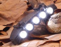 5 LED ClipCap 헤드 라이트 아래에서 모자 미니 화이트 밤 낚시 배터리 밤에 야외 캠핑 모험 플라스틱 헤드 라이트
