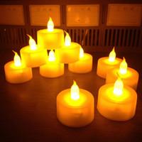 1440 adet / grup Flickering Alevsiz LED Tealight Titreşimsiz Çay Mum Işık Noel Parti Düğün Mumlar Güvenlik Ev Dekorasyon HP131