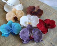 """Seide Orchidee Blüte Dia. 12 cm / 4,72 """"60 Stücke Künstliche Blumen Europäischen Schmetterling Orchideen Phalaenopsis für DIY Brautstrauß"""