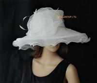 Sombrero de organza con plumas para la boda / iglesia.moq.can elija 6 colores de Swatch. Envío gratis por EMS.