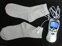 Gesund und Schönheit Ganzkörpermassagegerät Leitfähige Elektrodensocken Zehnmaschine Schmerzlinderung Körper Entspannen Massagegerät Wiederverwendung