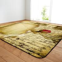 Alfombra de salón tradicional con diseño retro, alfombra de comedor tradicional con diseño retro, calzado personalizable