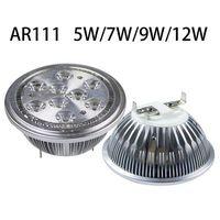 AR111 LED Scheinwerfer der hohen Leistung 7W / 9W / 12W G53 Aluminiumlegierung führte Birnen AC85-265V ersetzen Halogen für Geschäftsbeleuchtung