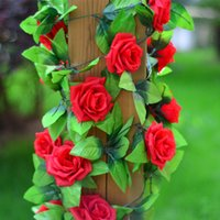 Wholesale- 2. 5m Silk Artificial Rose Flower Fake Artificial ...