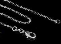 2017 ventes chaudes 1MM 16-24 pouces choisir chaîne en argent 925 collier de haute qualité chaîne en argent mince