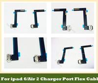 Para ipad 6 Air 2 Cargador Puerto de carga USB Dock Connector Flex Cable Black White Piezas de repuesto