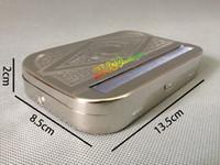 뜨거운 판매 신뢰할 수있는 품질의 사각형 담배 롤러 상자 matel 담배 롤 롤링 종이 담배 케이스