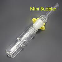 Mini collecteur de nectar Mini bong en verre barboteur en verre mini canalisation d'eau de rigole d'huile avec pointe en verre et agrafe Keck
