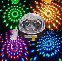 6 - 9 MP3 음악 스피커 원격 제어로 LED가 아름다운 크리스탈 마법 효과 공 빛 DMX 디스코 DJ 무대 조명 재생