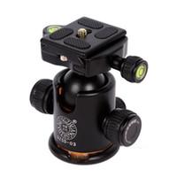 Pro Câmera Tripé Bola Cabeça Quick Release Plate Giratória Panorâmica Ballhead Q-03 Com Dupla Nível de Bolha QZSD-03 Para DSLR Canon Nikon