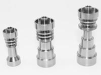 Universal Titanium Nail 1014 18mm 6 i 1 4 i 1 Justerbar Man eller Kvinna Joint Carb Cap Nails för glasrör Bong