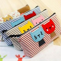 2015 New Cute Cartoon cat Pencil Pen bag Case Cosmetic Makeu...
