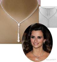 Cheap Crystal Bridal Jewelry Set Plateado Collar Plateado Pendientes Diamond Jewelrings Conjuntos de joyería para novia Dama de honor Mujeres Accesorios nupciales