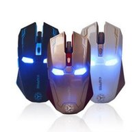 New Iron Man Mouse Wireless Mouse Gaming Mouse gamer Mute Bu...