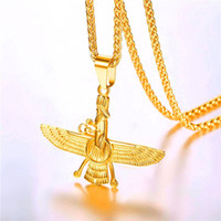 Starlord Faravahar Pendant Necklace Stainless Steel Jewelry ...