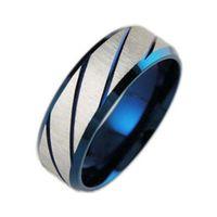 Fashion Cool Party Rock Punk Anelli per uomo Acciaio inossidabile Anello in acciaio blu Gioielli per uomo Donna Unisex
