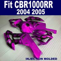 Kit de carenado de plástico para moldeo por inyección para HONDA CBR1000RR 04 05 rojo negro piezas de la motocicleta CBR 1000 RR 2004 2005 carenados XB998