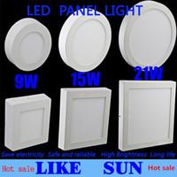 حار بيع مفاجأة! عكس الضوء 9W 15W 21W جولة / مربعة الصمام لوحة ضوء لوحة الخيالة الصمام النازل الإضاءة أدى ضوء السقف + السائقين