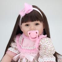 Élégant 22 Pouce Réel Véritable Reborn Bébés Tissu Corps Nouveau-Né Princesse Fille Poupées Enfants Anniversaire Cadeau De Noël