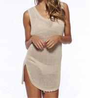 NEUE Mode Sexy Sommer Bademode Häkeln Vertuschen Frauen Sommer Strand Bikini Vertuschen Stricken Badeanzug Vertuschen Strand Tragen Kleid 10 Teile / los