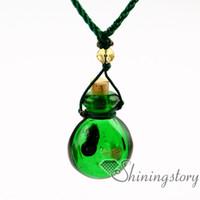 Parfüm Probenvials Murano Glas Aromatherapie Anhänger ätherische Öle Diffusor Halskette Diffusor Halsketten Großhandel Öl Diffundieren Halskette