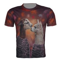 Alpaca print Animal 3D T- Shirt New Fashion Funny Creative T ...