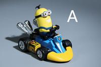 Çocuklar için noel Hediye Despicable Me Minion Action Figure Araba Oyuncaklar Minion Arabalar Boys için Doğum Günü Hediye 3 Parça Set başına