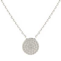 Mercado de los EE. UU. Mejor Venta de Moda de Lujo Diamante CZ Micro Pavimentado de Plata de Ley 925 Collares pendientes de Boda Envío Gratuito En Lucky Sonny Store