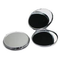 Espejo compacto grueso en blanco maquillaje cosmético espejo de color plateado tamaño grande 72mm sin rasguño M0840H envío de gota