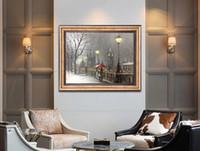 reine handgemalte hochwertige moderne einfache dekoration ölgemälde dicken öl leinwand messer malerei JL228