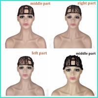 U Part Wig Cap Cap Высочайшее качество 3 Размер слева / Центр / вправо Партия U Часть CAP для изготовления париков Регулируемые ремешки обратно Бесплатная доставка