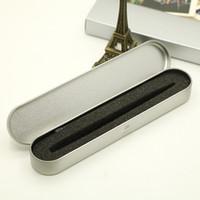 معدن القصدير قلم رصاص الحالات واحدة القلم فارغة الفضة تخزين مربع حالة مع مربعات هدية الإسفنج المنظم