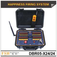 FedEX Frete grátis, sistema de queima de fogos de artifício seqüencial, controle remoto de 500 M, caso à prova d 'água, 24 cues Fireworks Firing System