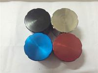 Herb grinder per smerigliatrice a base di erbe per smerigliatrice di metallo CNC 40mm 4pcs per tabacco da fumo 5pcs / lot