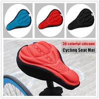 Selas de Bicicleta de ciclismo 3D Confortável Silicone Gel Tampa de Assento Almofada Almofada de Bicicleta Macia Mountain Bike Peças Acessórios