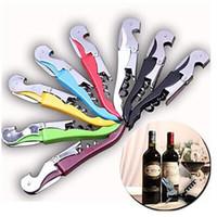 Multi-function Vino Cavatappi in acciaio inox Opener in acciaio inox Coltello Pull Pull TAP DOPPIO CUSCELLO CUSCREW CRANKCREW Regali promozionali creativi
