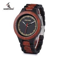 2020 BOBO BIRD nouvelle mode casual marque montre montre en bois pin acajou ébène hommes bicolore montre à quartz d'affaires en bois