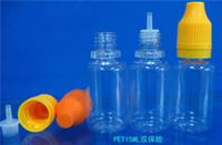 PET Clear e-Flüssigkeitsflaschen mit Originalitätsverschluss und kindersicheren Verschlüssen Lange, dünne Spitzen 10 ml, 15 ml, 20 ml, 30 ml und bunten Verschlüssen