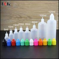 Дешевая цена E Cig E-сок E-жидкость пустые пластиковые бутылки капельницы 5 мл 10 мл 15 мл 20 мл 30 мл 50 мл 100 мл 120 мл с защитой от детей крышкой