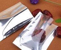 5x7cm, 200 шт. открытый верх полупрозрачный покрытие алюминиевый мешок, передняя прозрачная фольга вакуумный мешок для хранения продуктов питания пакет тепла печать порошок мешок