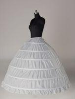 في المخزون زائد حجم ثوب الكرة 6 هوب الزفاف التنورة الداخلية قماش قطني تحتية الزفاف تنورات الزفاف