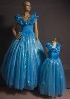 2015 Yeni Külkedisi Kız Elbise Külkedisi Kelebek Elbise Külkedisi Elbise Parti Çocuklar Için Prenses Külkedisi Cosplay Kostüm Fantezi Elbise