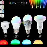 85-265V Milight 2.4g Bezprzewodowy E27 GU10 RGBW RGB + Cool White RGB / WW RGB + ciepły biały 4W 6W 9W Par30 Light Light Dimable żarówki
