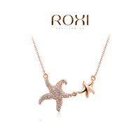 015 ROXI Christmas Gift Fashion Jewelry Rose Gold Plated Sta...