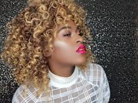 Nouvelle longueur moyenne perruque de simulation culry perruque frisée crépue en stock pour belles femmes