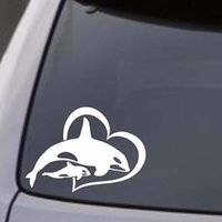 Orca Killer Whale W  BABY Vinyl Decal Sticker Car Window Wal...