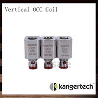 Kangertech Subtank Вертикальная Головка Катушки OCC V2 Катушка Органического Хлопка 0.5ohm 0.2ohm 1.5ohm Замена катушки Kanger для Subtank 100% оригинал