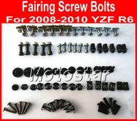 Nya Professionella Motorcykel Fairing Skruvbultar Set för Yamaha 2008 2009 2010 YZFR6 YZF R6 08 09 10 Svarta eftermarknaden Fairings Bolt Skruvar